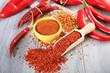 spezie piccanti paprica e peperoncinoin polvere