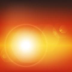 zachód słońca wektor