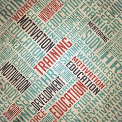 Development Background - Grunge Wordcloud Concept.