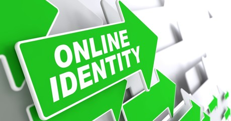 Online Identity on Green Direction Sign - Arrow.