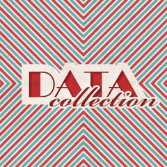 Data Collection. Retro Design Concept.