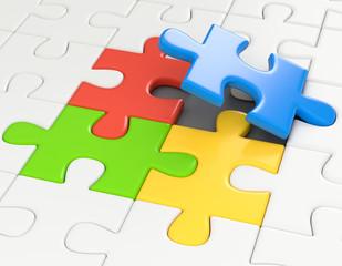 die fehlenden bunten Puzzleteile