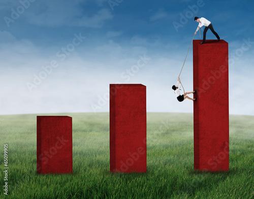 Businessman help his business partner 2