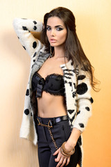 Sensual brunette posing