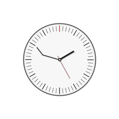 delay clock and white background