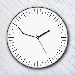 delay clock and white wooden background