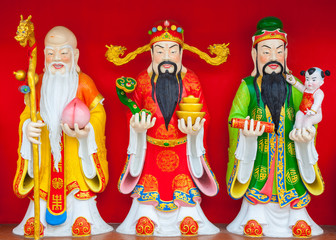 Fu Lu Shou ,Three Chinese lucky gods.