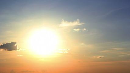 Summer Sunset. Timelapse