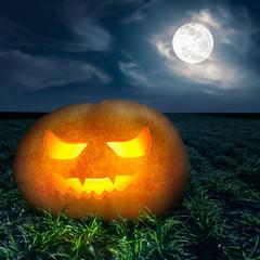 Halloween night background on the full moon