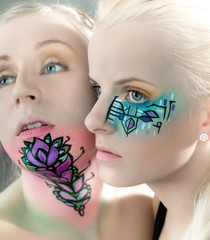 Facepainting (Katrin L., Tina)