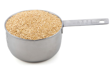 Quinoa in a cup measure