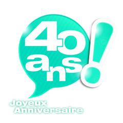 bulle mosaïque : anniversaire 40 ans (cs5)