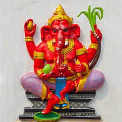 God of success. Indian style or Hindu God Ganesha avatar image