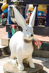Rabbit staute in Thai temple