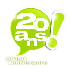 bulle mosaïque : anniversaire 20 ans (cs5)
