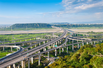 interchange system of highway in Taichung, Taiwan