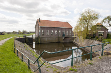 Water outlet and sluice of historical pumping station