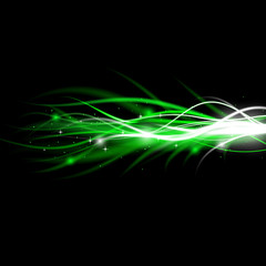 Blurry abstract green light effect sparkle background
