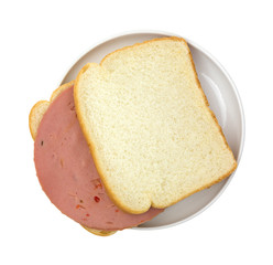 P&P loaf sandwich on white bread