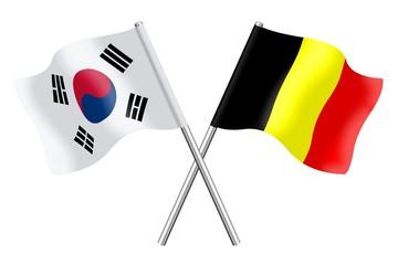 Flags : South Korea and Belgium