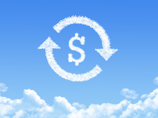 refinance sign a cloud shape on sky