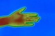 Постер, плакат: Thermal image of human hand sequence