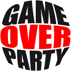 Rundes Game Over Party Logo