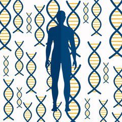 Vector Illustration of an Abstract DNA Background