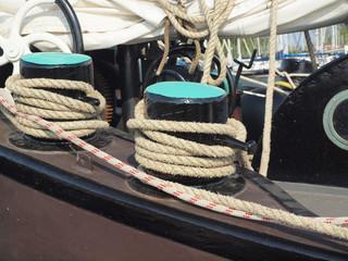 Details vom alten Segelschiff