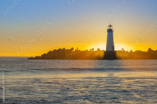 Fototapeta Lighthouse at sunset