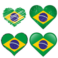 collection - Brasil- four different hearts