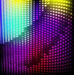 Abstract background colorful lights on black, .