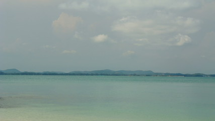 panning,View landscape island and port, full HD.