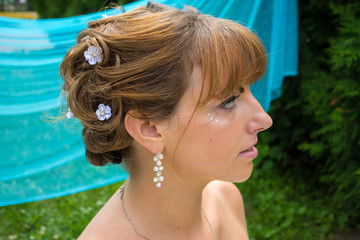 bride hairstyle and make-up