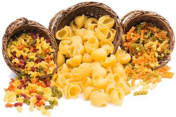 pasta assortment of different colors
