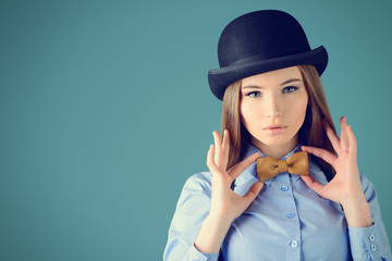 leather bow-tie