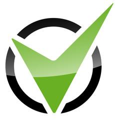 Haken Icon im Kreis – Abgehakt!