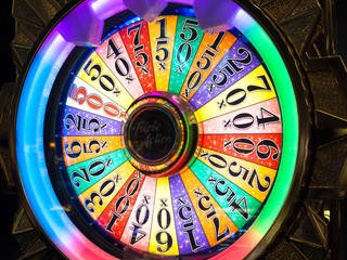 Wheel of fortune, Las Vegas, Nevada, USA
