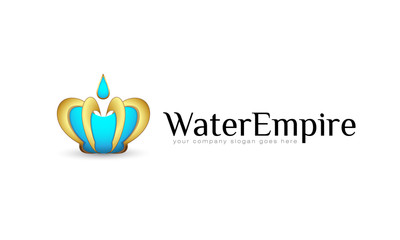 Logo template, vector, royal, imperial, water empire, crown
