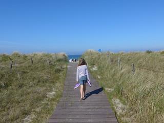 Auf dem Weg zum Strand - Bild