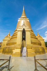 Golden Stupa, Wat Phra Kaew in Bangkok of Thailand