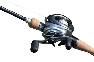 Modern powerful fishing reel spinning
