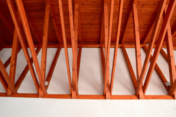 interior of the ridge beams on the veranda cafe