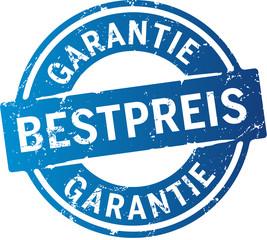 Blauer Button Bestpreis Garantie