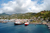 Kingstown harbour in St Vincent