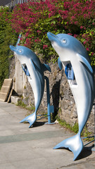 dolphin in the form of street phone