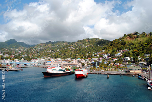 Foto op Plexiglas Kust Kingstown harbour in St Vincent