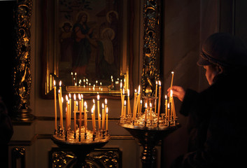 candles, monastery, church