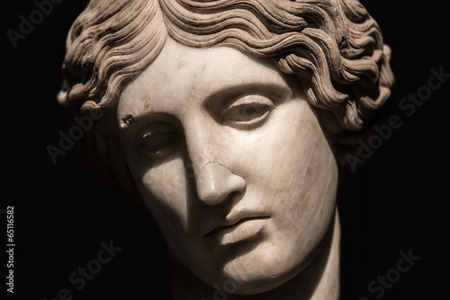 Portrait of beautiful Venus realized in stone, Rome, Italy - 65116582