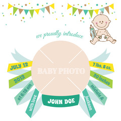 Baby Arrival Card - with place for your text and photo